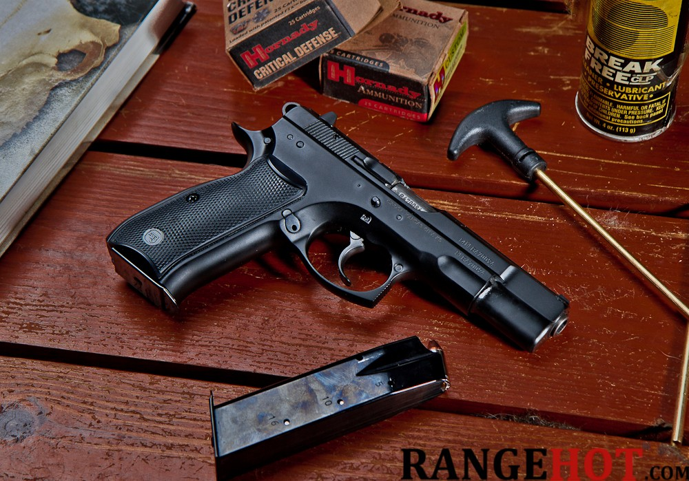 The CZ 75B, a comfortable double stack  This is madness