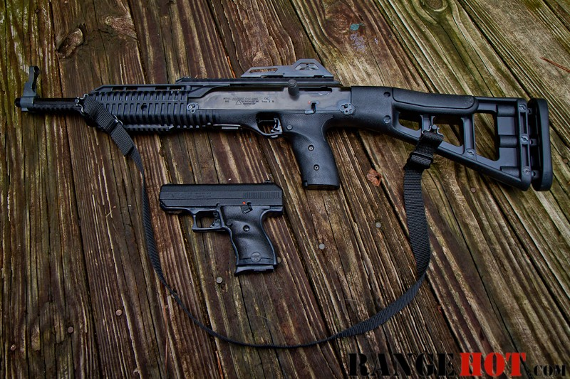 Hi Point 916 C9 handgun and 995TS carbine