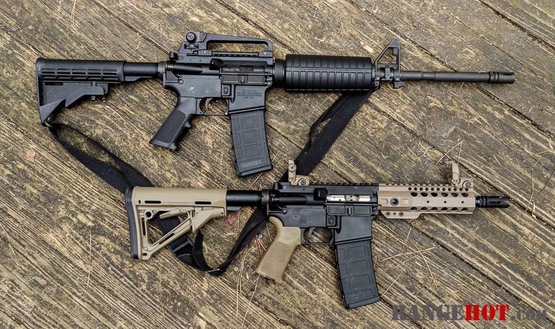 5 56/ 223 ballistic test carbine vs SBR - Range Hot