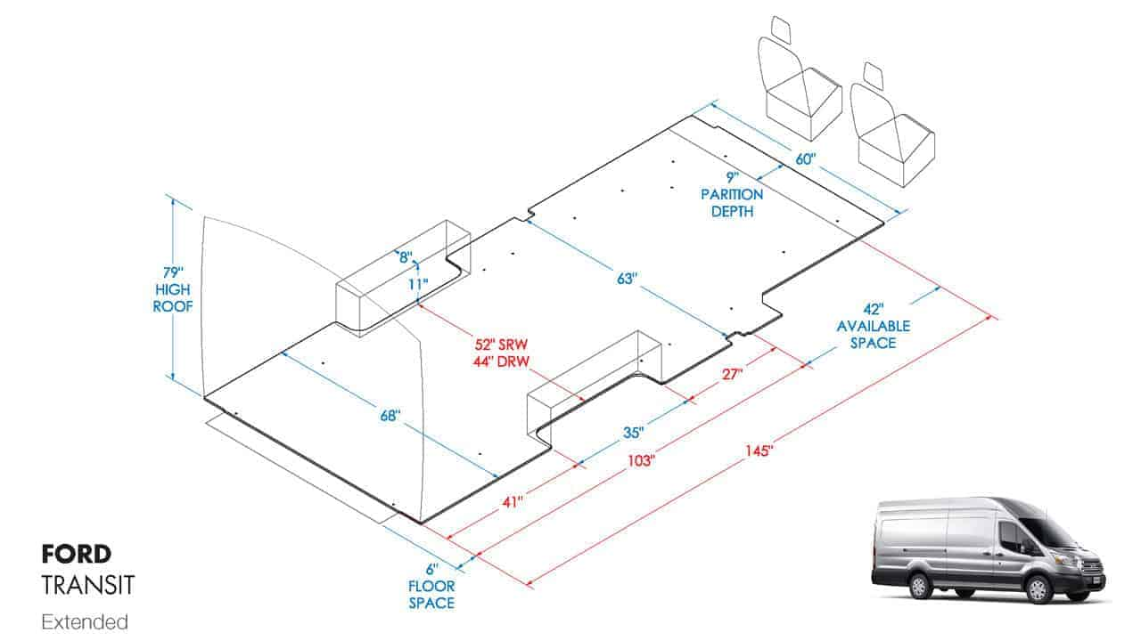 Dimensions for Space behind Back Seat in 350 HD DRW EL