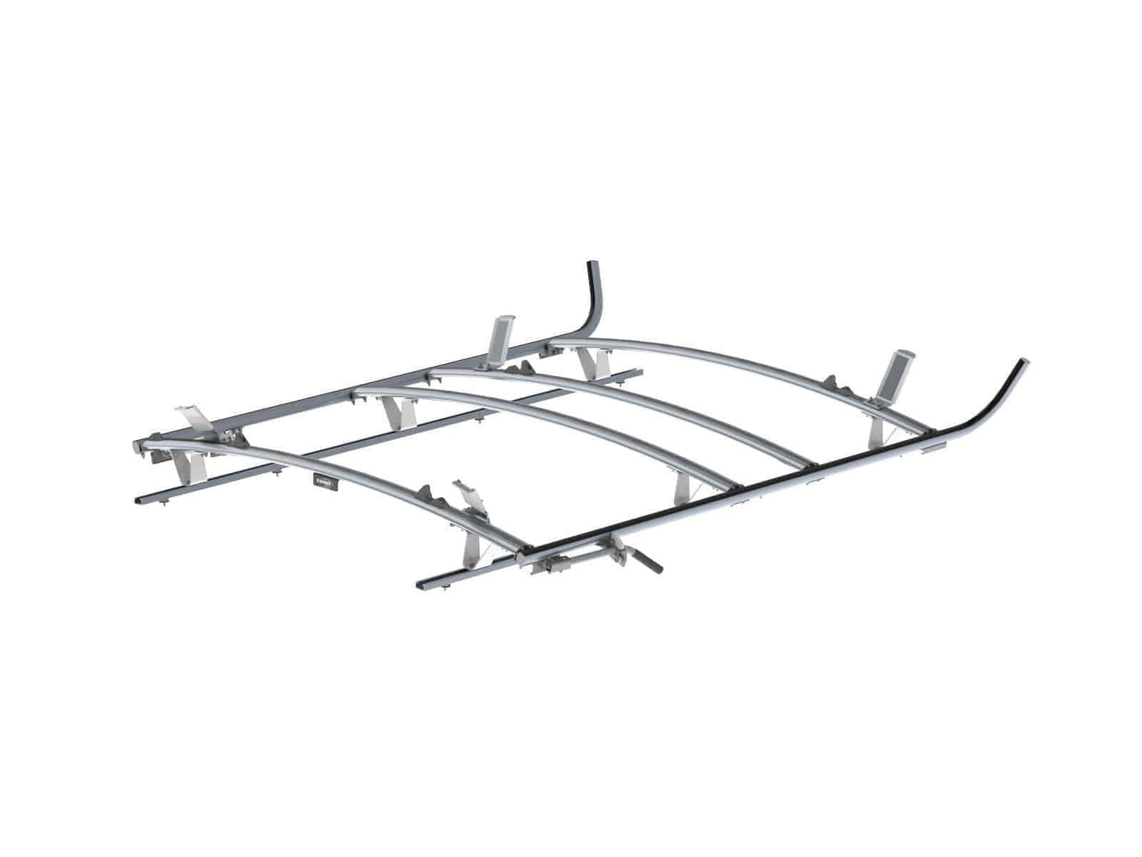 Combination Ladder Rack Aluminum 3 Bar Ford Transit Lwb