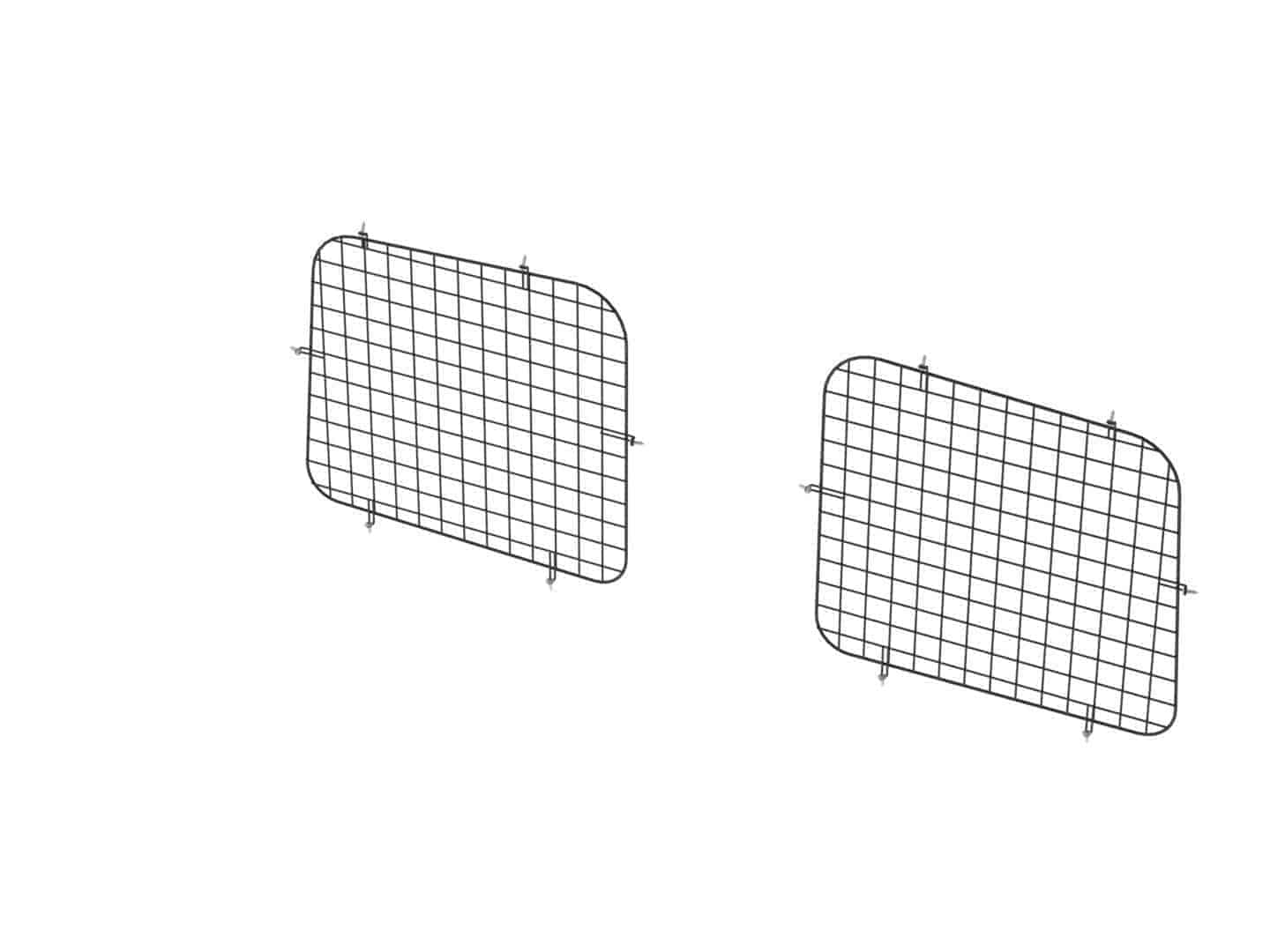 Set Of 2 Rear Window Grills, Steel Wire Painted Black