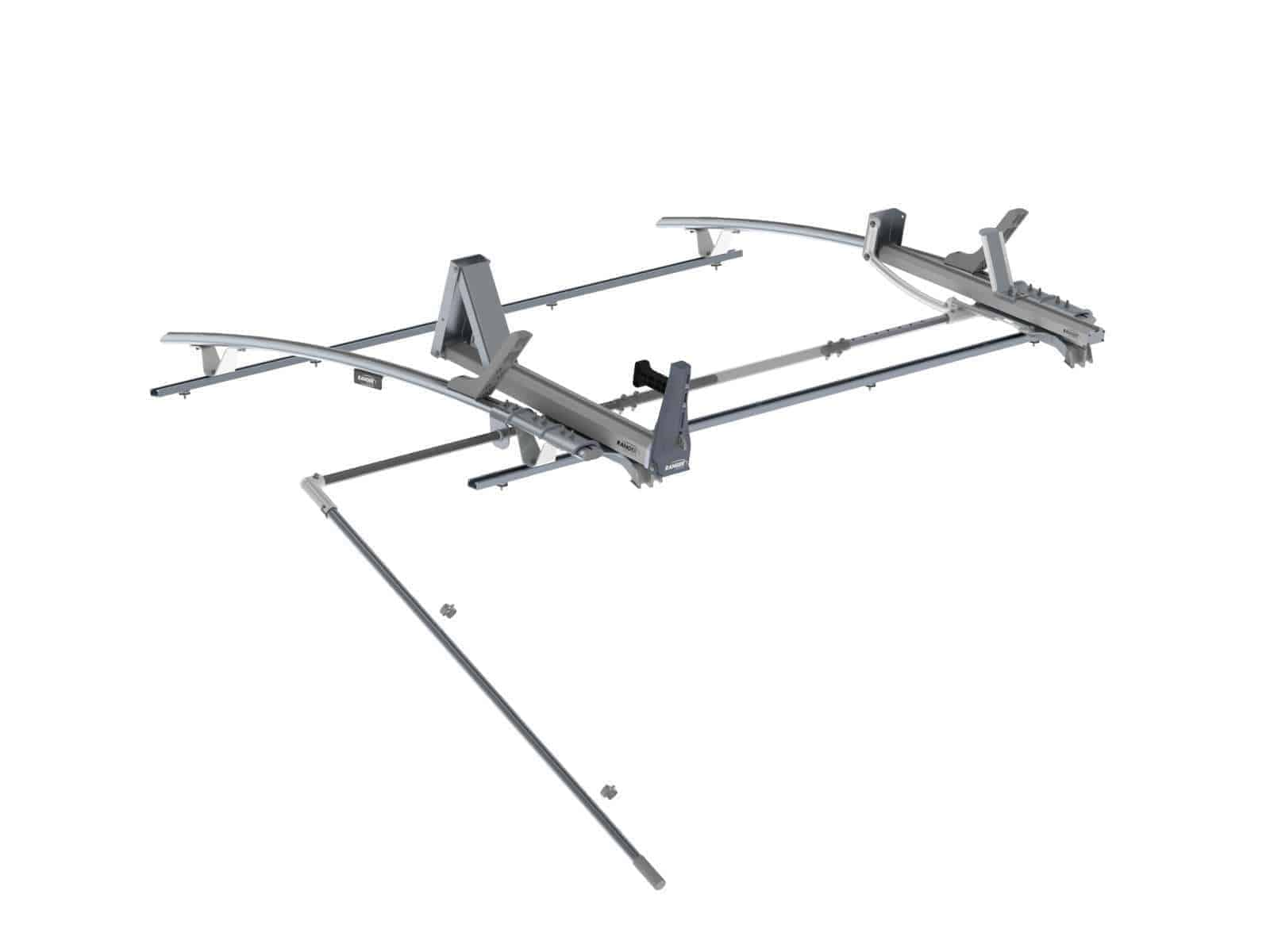 Single Side Max Rack Aluminum 2 Bar Ford Transit Lwb