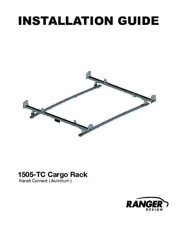 Cargo Rack For Vans, 2 Bar System,Ford Transit Connect