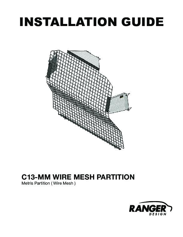 Contoured Wire Mesh Van Partition, Mercedes Metris
