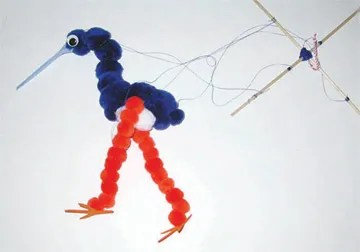 dancing blue heron