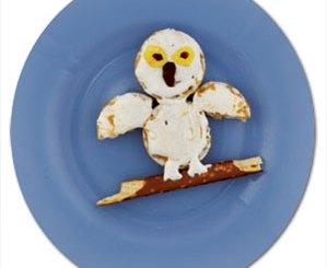 Rice cake snowy owl
