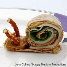 snail wrap step 2