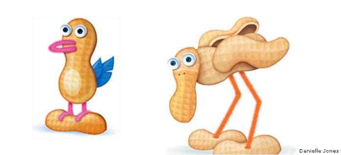 Peanut shell birds