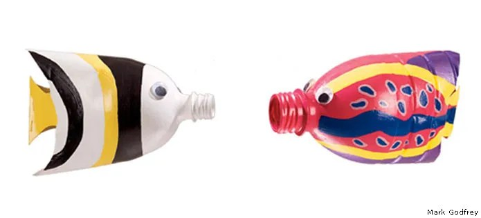 Plastic bottle fish