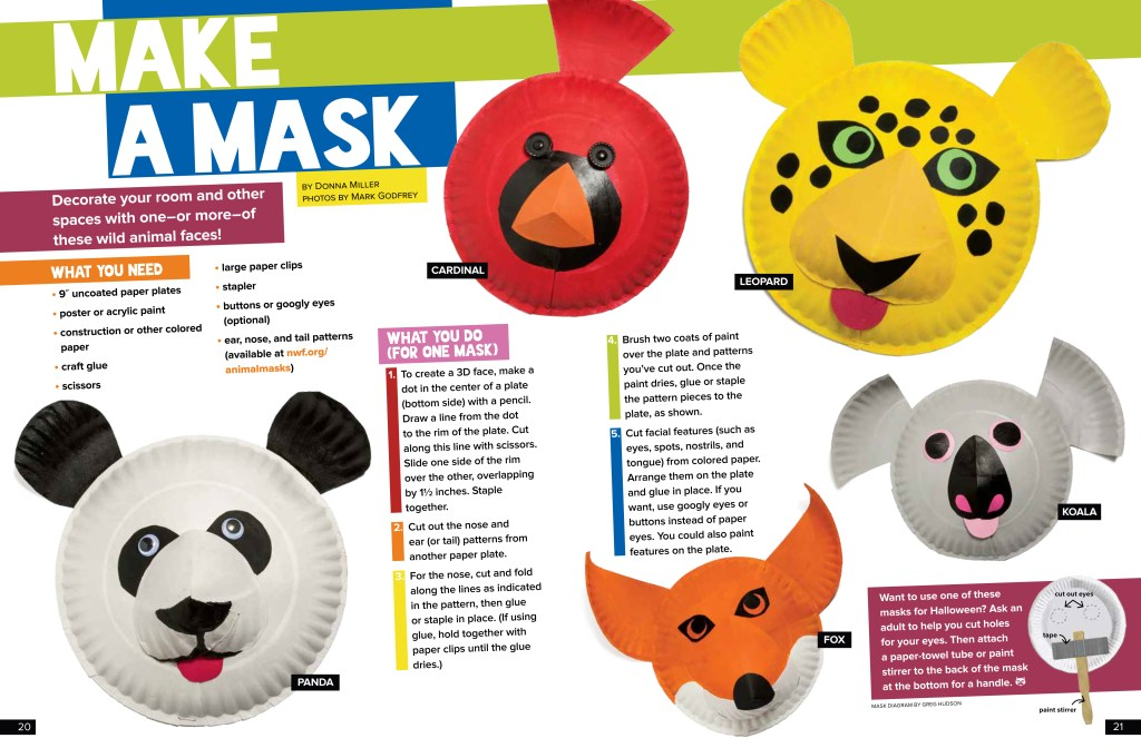 Make a Mask - October 2017 Ranger Rick
