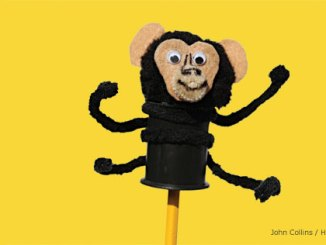 Chimpanzee pencil pal