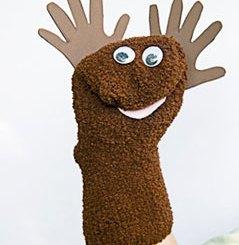 Moose sock puppet