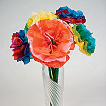 Tissue paper bouquet