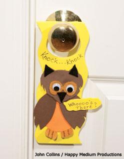 Owl door hanger