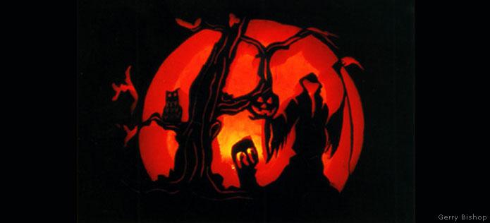 pumpkin carving scene
