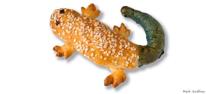 skink shaped pretzel