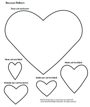 raccoon valentine pattern