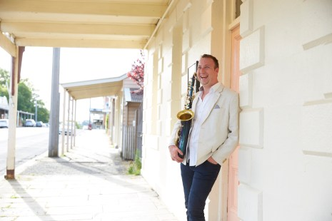 Shaun Evans MC and on Saxophone