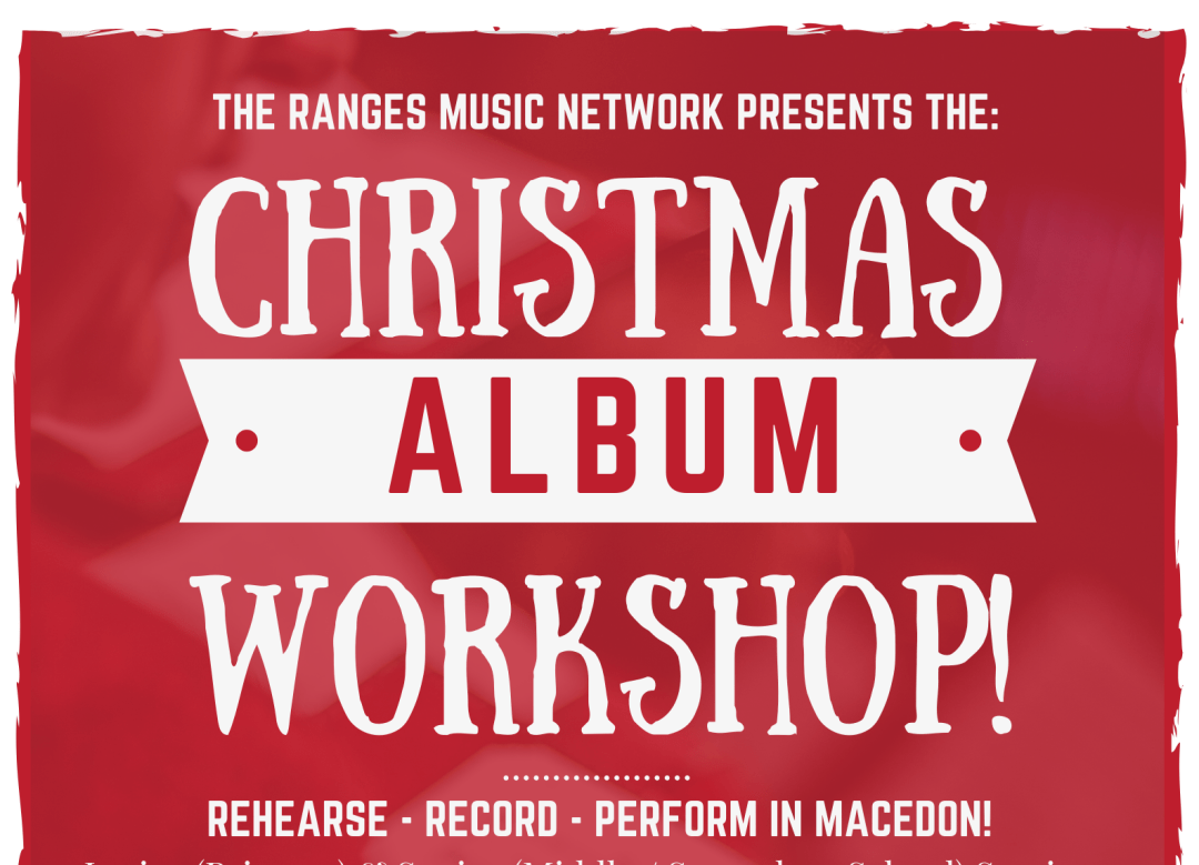 Christmas Album Workshop Poster