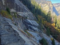 We chose to exit LYV via the John Muir Trail which was longer but had far fewer steps.