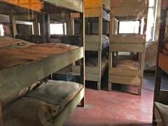 Bunks which held at least 2 people per bed.