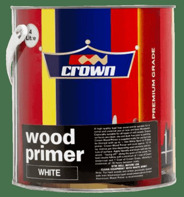 Crown White Wood Primer 4litres Rangi Paint Store