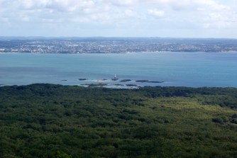 Beacon End from Rangitoto summit