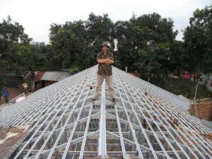 rangka atap baja ringan model limas konstruksi archives