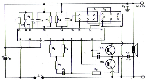 Skema rangkaian pemanas air otomatis (heater dispenser