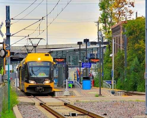 Metro Transit Blue Line in neighborhood