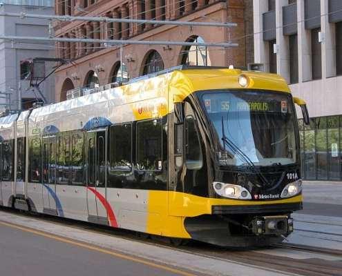 Light Rail Transit on road