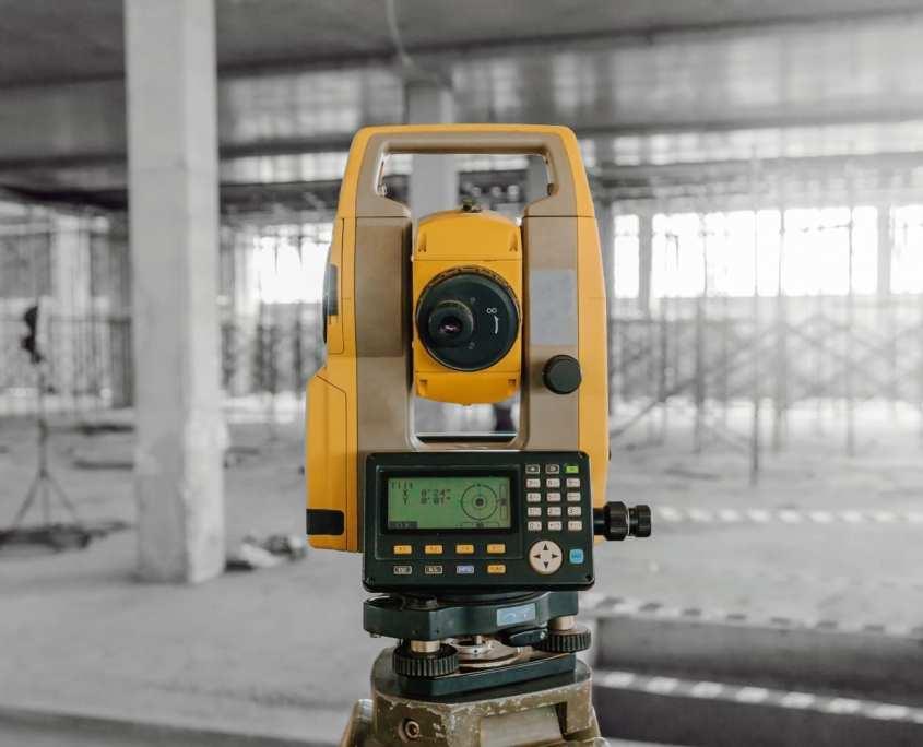 Close up of survey equipment