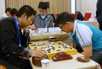Yuting Mi (left) playing Li-Hsiang Lin