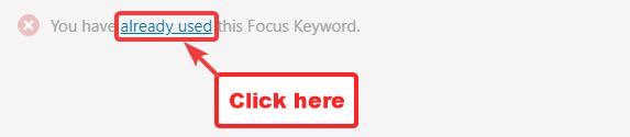 посилання, щоб побачити інші публікації за допомогою ключового слова фокус