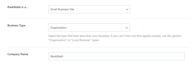 Business Options Appear On The Page