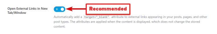 Option To Open All External Links In New Tab
