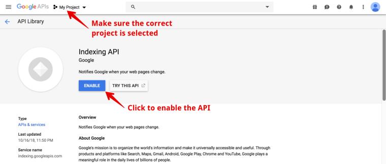 SEO技巧之利用谷歌索引API第一时间抓取新页面 19