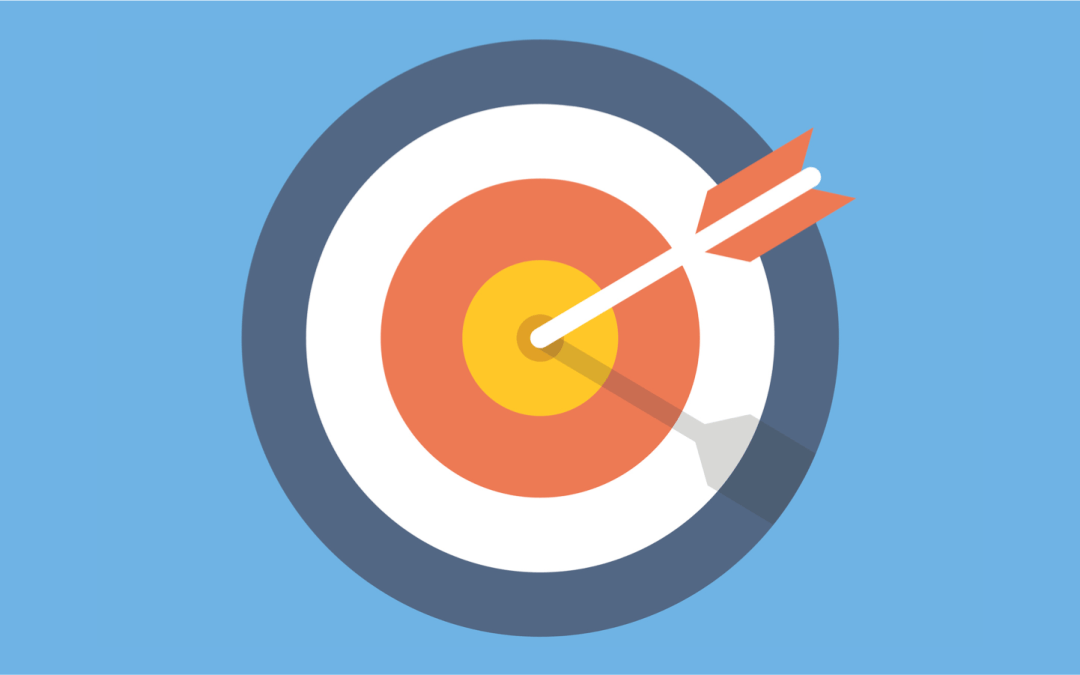 Graphic showing an arrow though the bullseye of a target