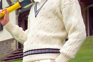 Cricket sweaters in club and school colours