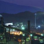室蘭工場夜景(八丁平より)