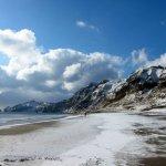 冬のイタンキ浜