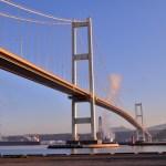朝日に照らされる白鳥大橋を見に行こう
