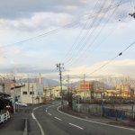 大沢町の坂から