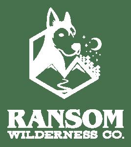 Ransom Wilderness Co white logo