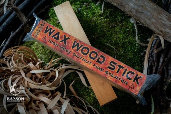 Wax Wood Stick fatwood alternative shown packed and unpacked