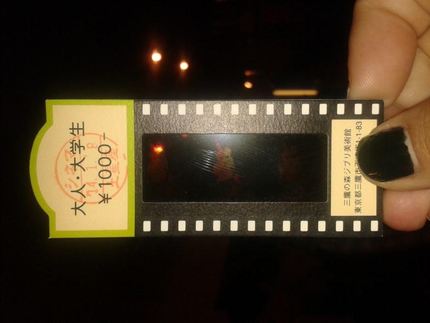 A piece of original film by Miyazaki