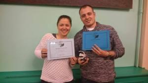 Vanja and Ivan Kranj?evi? accepted the Croatian awards at Eurocon 2015