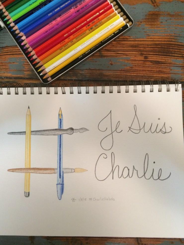 JeSuisCharlie drawing 010815