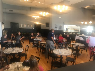 The dining room is fairly expansive, particularly in comparison to LDV's old location.